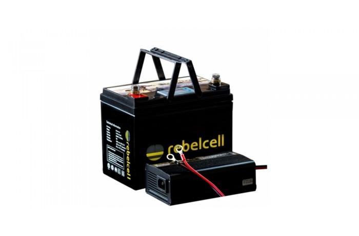 12V 50AV battery + charger 25A
