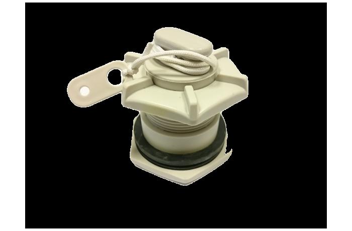 Drain valve with plug
