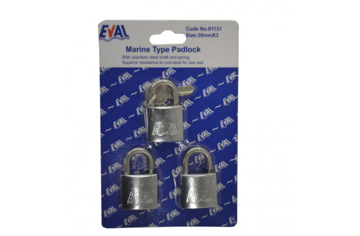 Set of marine padlocks 3pcs