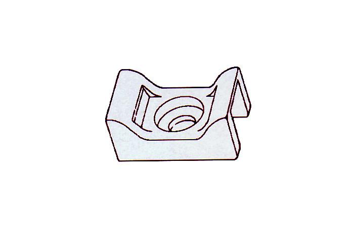 Nylon cable tie mounts