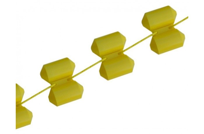 Rope with buoys yellow 25m
