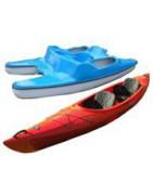 Water bikes, kayaks