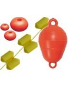 Marker floats, buoys